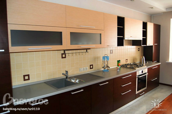 Кухни фото светло темные