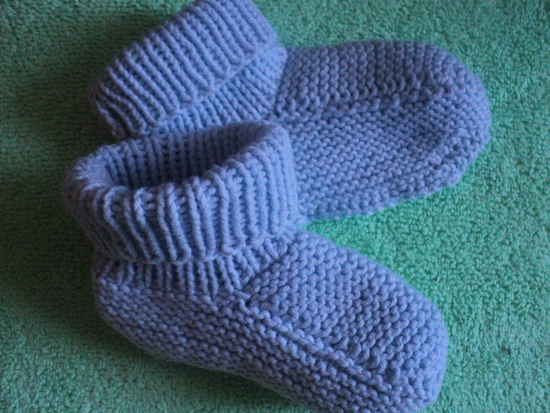 Вязание на 2 спицах носки для детей 9