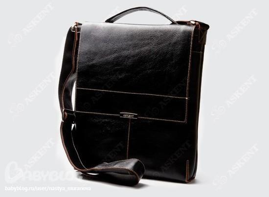 Продам НОВУЮ мужскую сумку-планшет Askent формата А4.Кожа.3900руб.