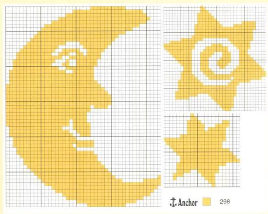 Схема вышивки крестом полумесяца