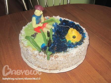 Как сделать торт папе на день рождения своими руками
