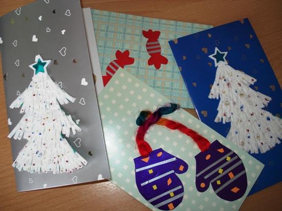 Новогодние конверты своими руками фото