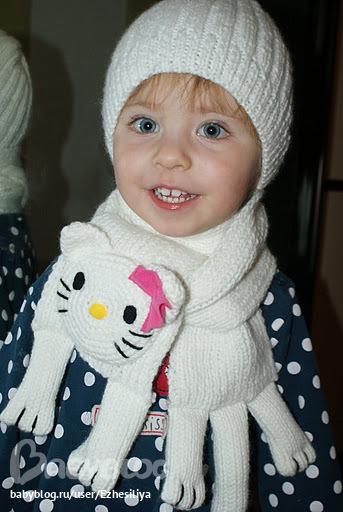 как вязать шарф для ребенка крючком