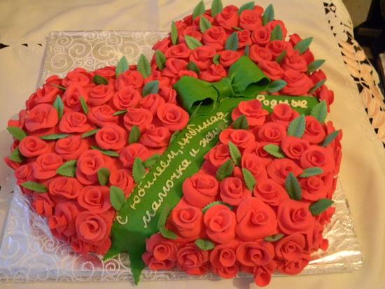 Медоборы торт цветочный фото 5