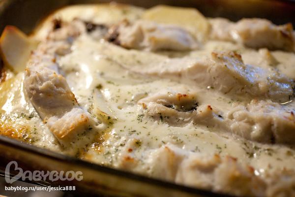 рыба запеченная в сметанном соусе в духовке