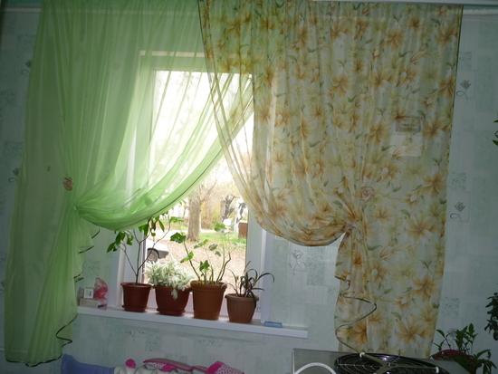 Простые шторы своими руками для кухни фото