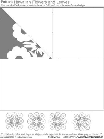 Схемы и трафареты снежинок из бумаги