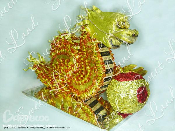 Подарки с конфет дракон