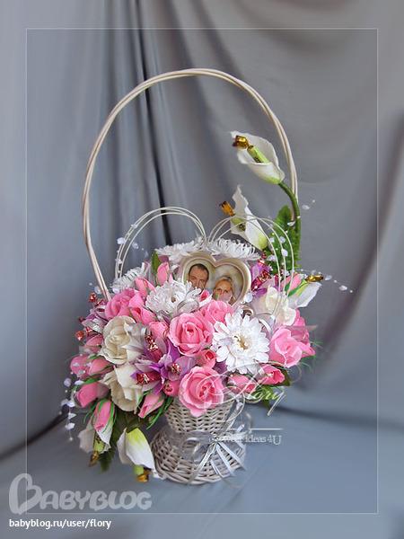 Букет корзина на свадьбу