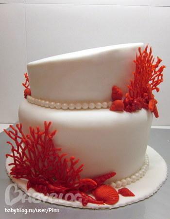 Торты на коралловую свадьбу - Бейкери Стрит
