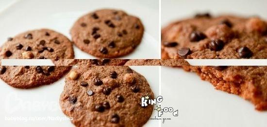 рецепт американского печенья с кусочками шоколада фото