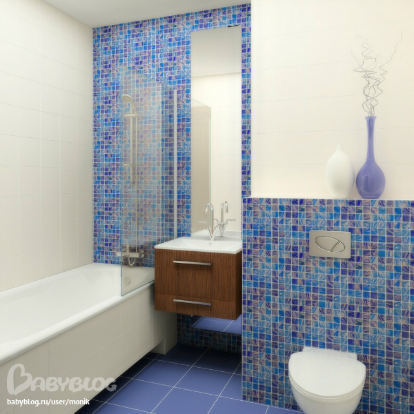 Ванные комнаты дизайн мозаика