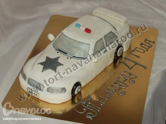Торт полицейская машина - b8da9