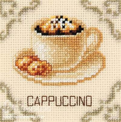 Витрины с кофе Вышивка в