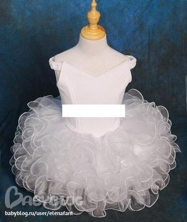 Короткое пышное платье для девочки своими руками
