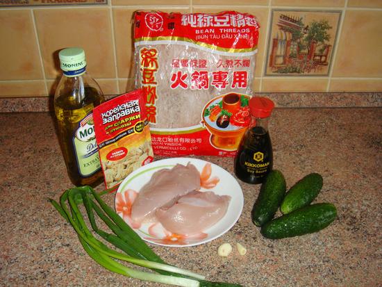 рецепты с фунчозой и курицей калорийность