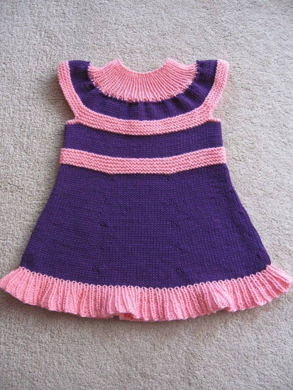 схема вязания детского сарафана спицами на 1 годик