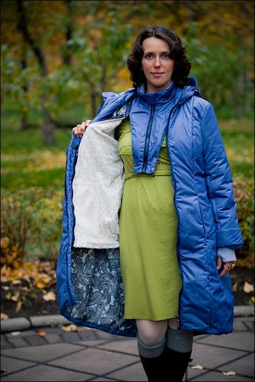 зимние пальто больших размеров.