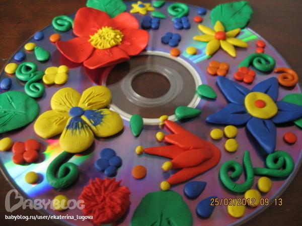 Как сделать открытку из пластилина