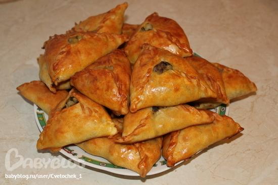 Фото треугольники с мясом и картошкой пошаговый рецепт 78