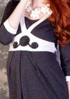 Наименование: Платье с декоративной кокеткой.