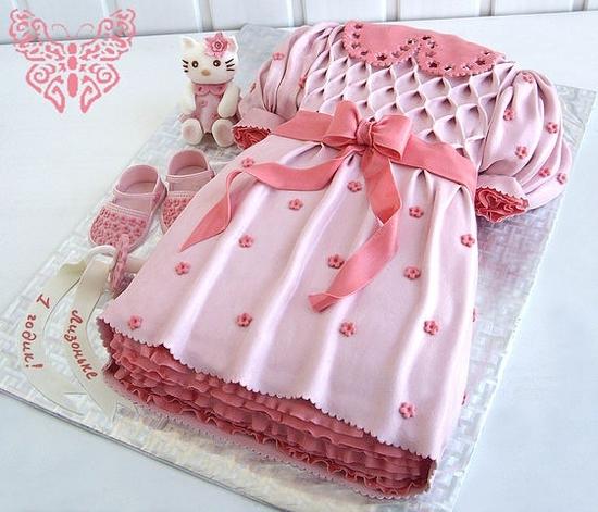 Платье на торт для девочки