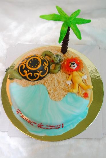 Торт львенок и черепаха фото