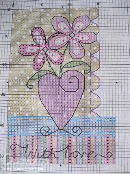 135 Схема для вышивки крестом с 8 марта схемы