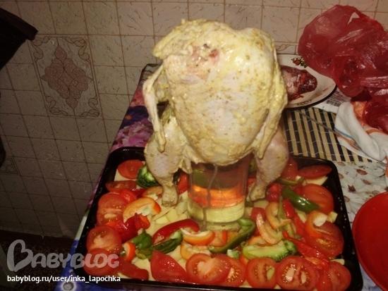 курица с картошкой в духовке в банке рецепт с фото