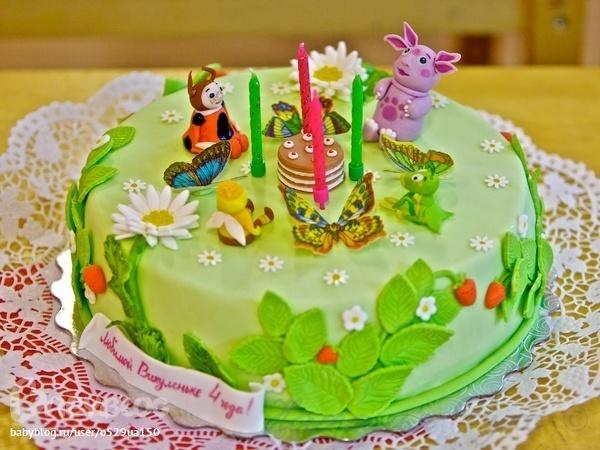 детские тортики на 3 года с фото
