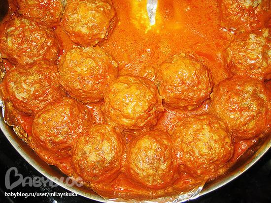 Вкусные тефтели духовке рецепт с фото